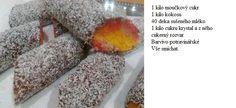 kokosové suky Baking, Food, Bakken, Essen, Meals, Backen, Yemek, Sweets, Eten