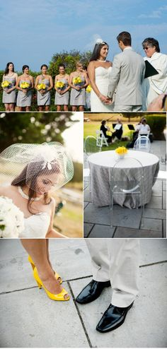 Cute Gray and Yellow wedding
