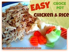 Easiest Crock Pot Chicken and Rice recipe! #slowcooker #recipes #crockpot