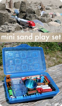 92177bd5dc12 Customize this travel-friendly mini sand play set to match your child s  interests! Summer