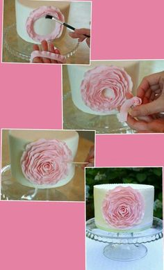 How to make a rose cake