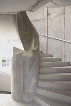 spiral helical stair wendeltreppe mit einem stahltragkörper und, Innenarchitektur ideen