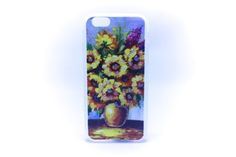 Carcaza Pintura Girasoles Relieve Iphone 5 / Iphone 4 / Iphone 6 — HighTeck Store
