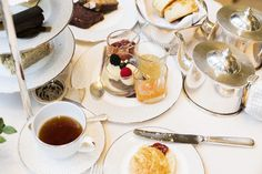 Afternoon tea at the Connaught Hotel