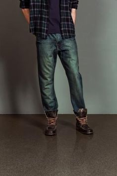 jeans two tone blend with dark colors swag