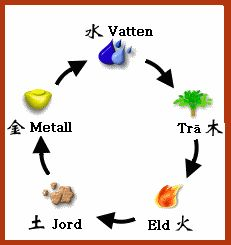 Fem element den produktiva cykeln