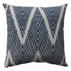 Pillow Perfect Bali Navy 16.5-inch Throw Pillow | Overstock.com
