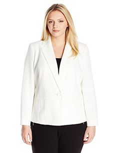"Product review for Kasper Women's Plus-Size Stretch Crepe Jacket.  - Elevate your professional wardrobe with this one button, stretch crepe jacket! pair it with Kasper matching pant or skirt to complete your career-ready look   	 		 			 				 					Famous Words of Inspiration...""Life in abundance comes only through great love.""					 				 				 					Elbert..."