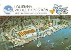 Vintage World's Fair postcard - 1984 Louisiana World Exposition