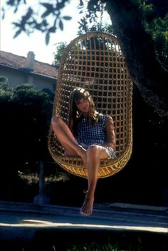 perfect birkin in perfect hanging chair.