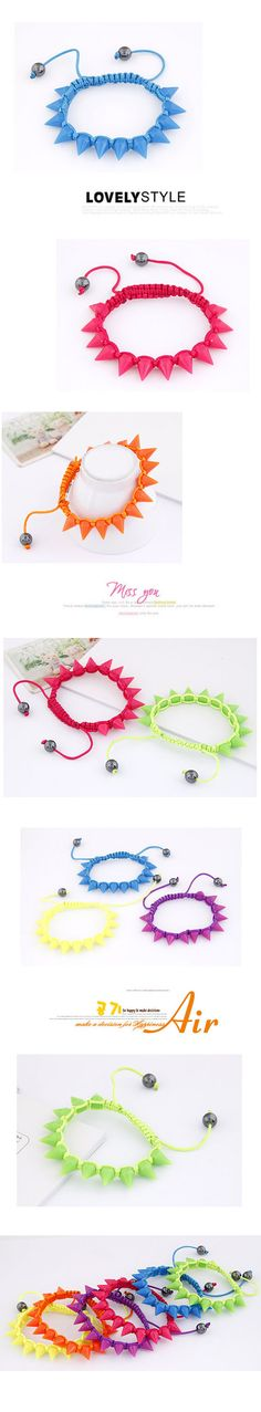 High Yellow Taper Shape Plastic Korean Fashion Bracelet,Korean Fashion Bracelet