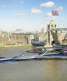 London Mayor Boris Johnson has unveiled plans for a floating motorway to be constructed on the River Thames, intended to ease congestion in the city ahead of the London 2012 Olympic games this summer...