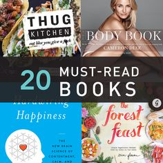 "The 20 Must-Read Fitness, Health, and Happiness Books of 2014 === I'm repinning this just because I'm really intrigued by the ""thug kitchen"" cookbook."