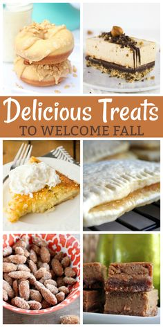 The transition from summer to fall puts me in the mood for fall baking. Here are several sweet treats and irresistible desserts that are the perfect way to welcome fall!
