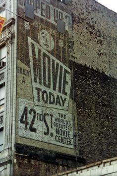 42nd Street movie sign NYC