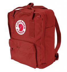 mini fjällräven rygsæk i rød