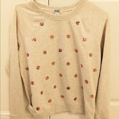 Gold sequined polka dot sweater Great condition Old Navy Sweaters