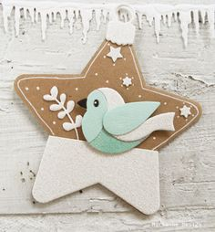 WINTER BIRD STAR TAG - Eline Pellinkhof