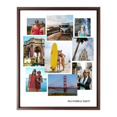Gallery Collage of Nine Canvas Print, Brown, Single piece, 16 x 20 inches
