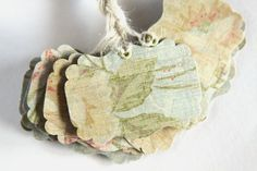 15 Handmade Paper Tags Vintage Style Gift Tags by Summertimedesign, $6.50