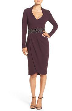 Pamella, Pamella Roland Embellished Crepe Sheath Dress available at #Nordstrom