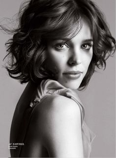 Rachel Mcadams With A Messy Bob Abagaile Coleman