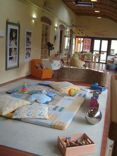 gorgeous play area for babies.  Maybe I could set something up like this in a's room as a reading/chilling space