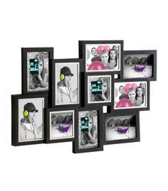 Marco de pared acabado en madera para 21 fotos de 10 x 15 - Marcos de fotos multiples ...