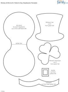 1000 images about emma 39 s st patricks day wardrobe on for Leprechaun hat template printable
