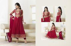Attractive Crimson Salwar Kameez   StylishKart.com