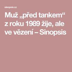 """Muž """"před tankem"""" z roku 1989 žije, ale ve vězení – Sinopsis"""