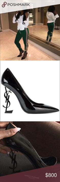 YSL Black Opyum Heels Showstopper HEELS!! Get compliments with this shoe! Yves Saint Laurent Shoes Heels