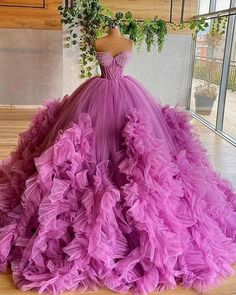 Pretty Quinceanera Dresses, Cute Prom Dresses, Tulle Prom Dress, Pretty Dresses, Wedding Dresses, Big Dresses, Amazing Dresses, Ball Gowns Evening, Ball Gowns Prom