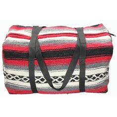 Serape Travel Bag...i could prob make this..