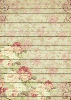 Printable Lined Paper, Ramadan Crafts, Stationeries, Diy Notebook, Vintage Scrapbook, Decoupage Paper, Stationery Paper, Fantasy Inspiration, Note Paper
