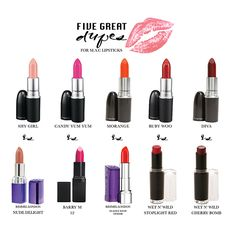Five Great Dupes for M.A.C. Lipsticks | STYLE'N