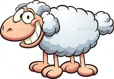 Buy Cartoon Sheep by memoangeles on GraphicRiver. Vector clip art illustration with simple gradients. All in a single layer. Make A Cartoon, Sheep Cartoon, Happy Cartoon, Sheep Drawing, Sheep Vector, Fabric Flower Headbands, Sheep Art, Cute Sheep, Clip Art