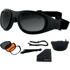 Bobster Sport & Street 2 Interchangeable Touring Motorcycle Goggles Eyewear - Black/smoke/amber/clear / One Size http://www.motorcyclegoods.com/top-22-best-goggle/