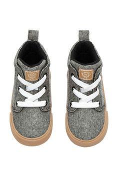 Buty Sportowe Do Kostki Czarny Melanz Dziecko H M Pl Baby Shoes H M Online Fashion Online