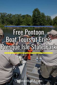 Did you know that there are free pontoon boat tours at Presque Isle State Park in Erie, PA? These summertime tours offer a great chance to explore this beautiful park. Coyote Hunting, Pheasant Hunting, Archery Hunting, Canoe And Kayak, Kayak Fishing, Presque Isle State Park, Erie Pennsylvania, Erie County, Kayak Rentals