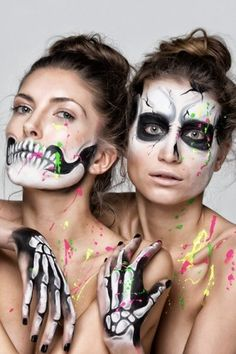 Make up by the #skeleton with colorful details - Fashion9shop.com