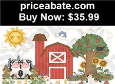 Kids-at-Home: BARNYARD ANIMALS MURAL COWS BABY NURSERY KIDS ROOM WALL STICKERS DECALS DECOR - BUY IT NOW ONLY $35.99