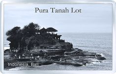 Acrylic Fridge Magnet: Indonesia. Pura Tanah Lot. Bali