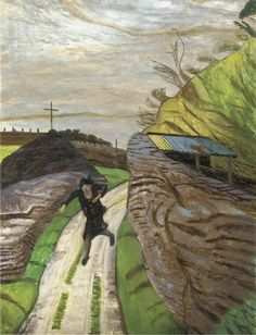 Carel Victor Weight, R.A. (1908-1997), Woman running, oil on canvas, 36 x 28 in. (91.5 x 71.1 cm.)