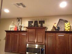Above cabinet decor