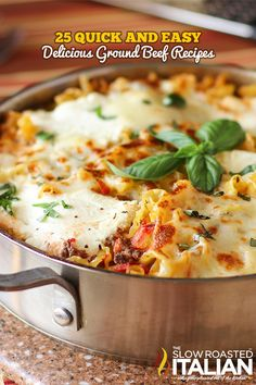 25 Quick and Easy Ground Beef Recipes- because we never know what to do with ground beef!