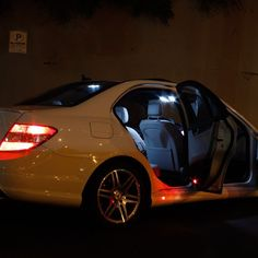 Pure White LED Error Free Canbus Interior Lighting Package Mercedes 2008-2013 W204 C Class