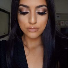 shimmery brown cat eye makeup