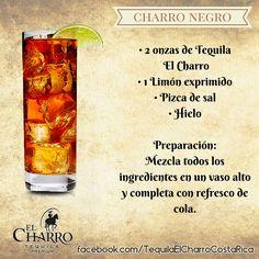 Charro Negro, con Tequila El Charro! #TequilaElCharro #Tequila #Coctel #Cocktail #CharroNegro