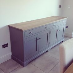 CoHebe.com - Solid wood framed sideboard in a stunning hand painted farrow and ball finish. Made to order on request. Prices from £1450.